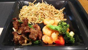 炒麺+ステーキ+シュリンプ|パンダエクスプレス