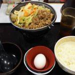 ガッツリ肉2倍盛りの牛すき鍋定食|すき家 鹿島田駅前店