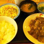 お肉をガッツリL定食・W定食 松屋 鹿島田店