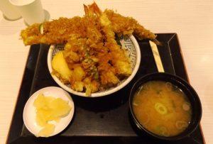 江戸前天丼・味噌汁|金子半之助@ラゾーナ川崎