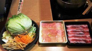 夕採れレタスと野菜盛り&お肉|しゃぶしゃぶ温野菜 池上店