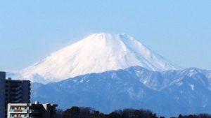 多摩川公園から見た富士山・アップ