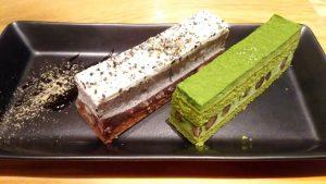 抹茶と黒ごまの和風ケーキ|ハンズカフェ