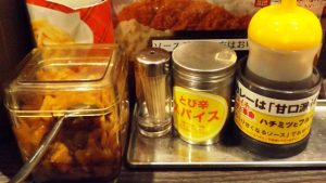 テーブルの調味料@CoCo壱番屋鹿島田