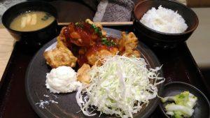 唐揚げ黒酢あんかけ定食|とり多津 鹿島田店