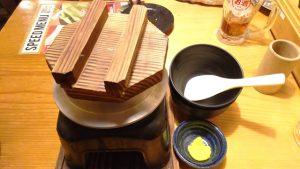 とり釜飯(蒸らし中)|鳥貴族