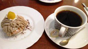 モンブラン&コーヒー|川崎壱番館