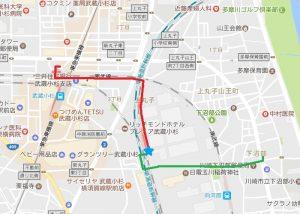 JR武蔵小杉駅・向河原駅周辺