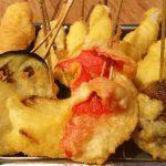 揚げ立て串かつ、優しい出汁ぞうすい|串かつでんがな パークタワー新川崎店