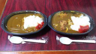 カレー(普通)2個のうち1個は唐揚げトッピング追加|ポップBar&カレー