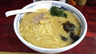 豚骨ラーメン(大盛り) ラーメン マキタ(川崎)