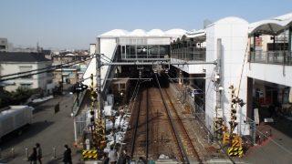 JR南武線の鹿島田駅(川崎側)