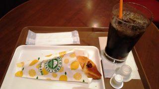 レモンチーズチョコクロ+アイスコーヒー サンマルク・カフェ 西蒲田店