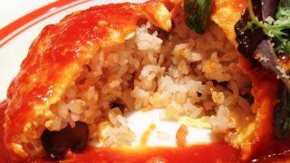 エビとチーズのトマトソース断面 ポムの樹グランデュオ蒲田