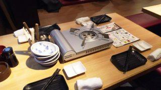 テーブル|博多串焼・もつ鍋 かんべえ 川崎本店