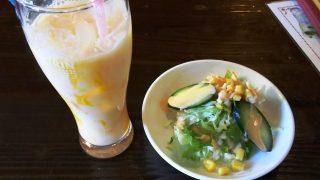 マンゴーラッシー&サラダ|カレーナロンキッチン