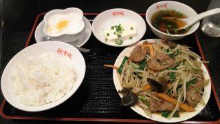 レバーニラ炒め+冷や奴|阿里城 川崎ルフロン店