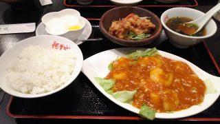 エビチリ+唐揚げ・サラダ|阿里城 川崎ルフロン店
