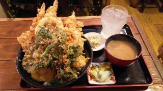 海老天丼セット|三惚