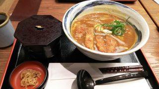 とんかつカレーうどん(定食) 杵屋 川崎アゼリア店