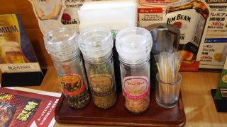 テーブルの上の調味料|ブロンコビリー 横浜鶴見店