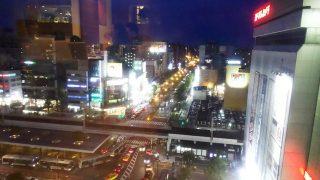 窓からの景色(日没後)|ナトゥーラ 川崎日航ホテル