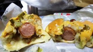 チーズドッグの断面|フレッシュネスバーガー 新川崎スクエア店
