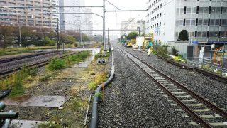 東海道線下り線の線路|JR川崎駅ホーム拡幅工事