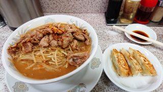 肉味噌タン麺+餃子|みそ一発 多摩川店