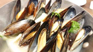 ムール貝のワイン蒸し(アップ)|ビヤレストラン銀座ライオン 川崎駅前店