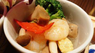 海老とブロッコリーの岩塩炒め|中華酒家飯店 角鹿(鹿島田)