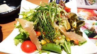 一人に一皿ずつの小さなとり鉄サラダ和風|とり鉄 武蔵新城店