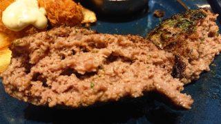 ハンバーグステーキの断面 NICK STOCK ラゾーナ川崎