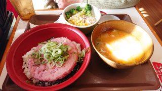 まぐろたたき丼カレーとん汁サラダセット すき家 下平間店