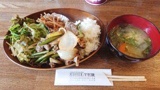 牛肉とニンニク芽のオイスターソース炒め|casual dining bar SHELTER