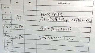 お手洗いのメッセージ|ドトールコーヒー 鹿島田サウザンドモール店