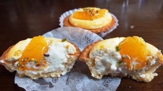 オレンジヨーグルトチーズタルト(断面)|ベイク チーズタルト アトレ川崎店