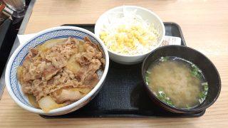 牛丼生野菜味噌汁セット|吉野家(イートイン)