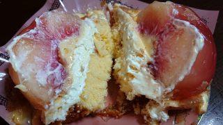 桃のケーキ(断面)|ラ・ベルージュ 下平間店