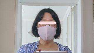 マスクをつけてみた|e-goodsカラメル/冷感マスク