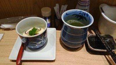 茶碗蒸しとお茶|板前が握る寿司 ななつぼ 鹿島田店