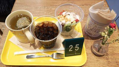 ドリンクとサラダ|フレッシュネスバーガー 新川崎スクエア店