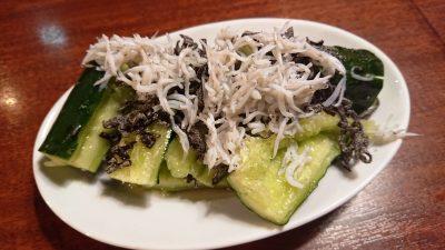 しらすどっさり塩たたき胡瓜|牛角 京急川崎駅前店
