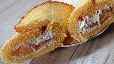 ごろっと白桃ケーキ(断面) セブンイレブン