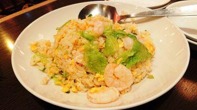 ぷりぷり海老の葱塩炒飯|健康中華庵 青蓮