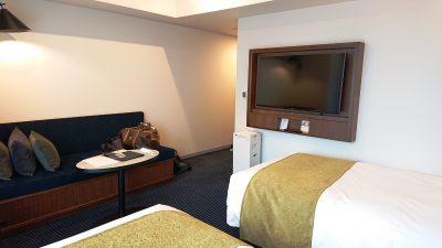 ツインルーム(奥側から)|ホテルメトロポリタン 川崎