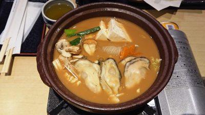 お鍋(牡蠣味噌鍋御膳)|藍屋 武蔵小杉店