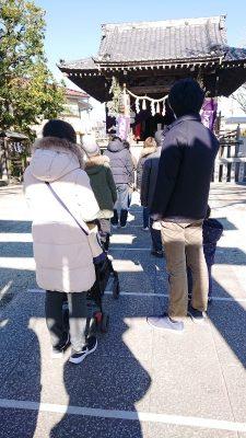 天満天神社参拝の列|川崎市幸区