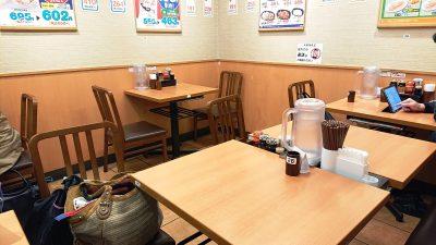店舗内観(テーブル席)|日高屋 鹿島田店