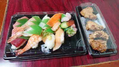 お寿司と唐揚げ|スシロー 新川崎スクエア店